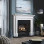 Ethos 750 portrait gas fire with marble mantel