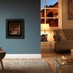 Ethos 400 four sided gas fire