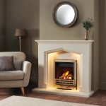 Swinford fireplace In limestone with gas fire
