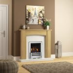 Ambleton oak fireplace with gas fire