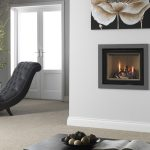 Ethos 550 gas fire with grey trim