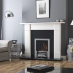 Ethos 400 gas fire with chrome trim