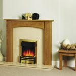Justine arched fireplace with electric fire