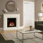Vitalia fireplace with gas fire